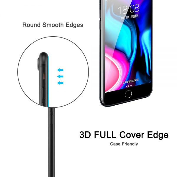 3d full cover edge nordic shield iphone 6/7/8 panserglas