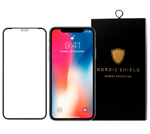 Nordic Shield iPhone X panserglas blister transparent