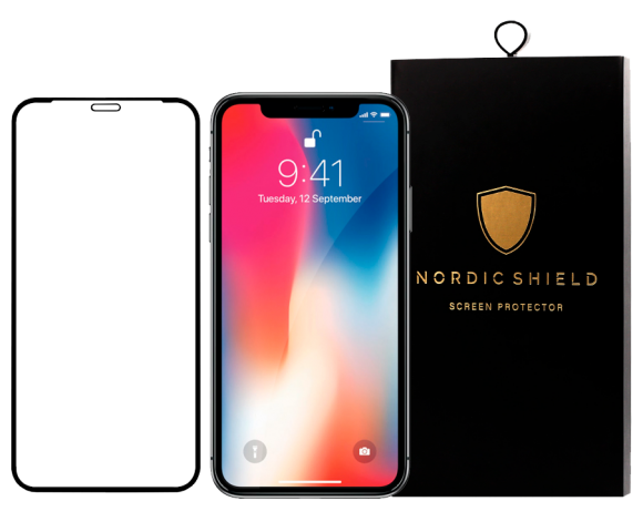 Nordic Shield iPhone X panserglas blister transparent