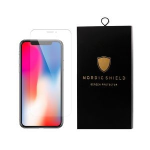 Nordic Shield iPhone X standard fit clear panserglas blister